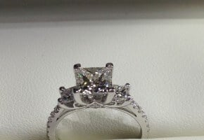 A princess cut worthy of a Queen!