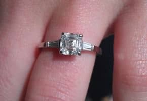 The Awesome Asscher Cut Diamond Ring!