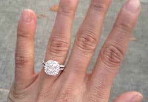 Cushion Cut Halo Custom Setting