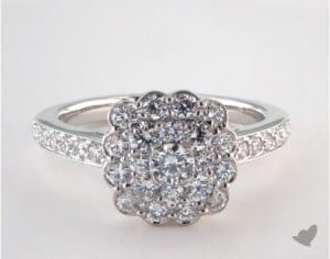 cluster setting cropped - Wedding Ring Settings