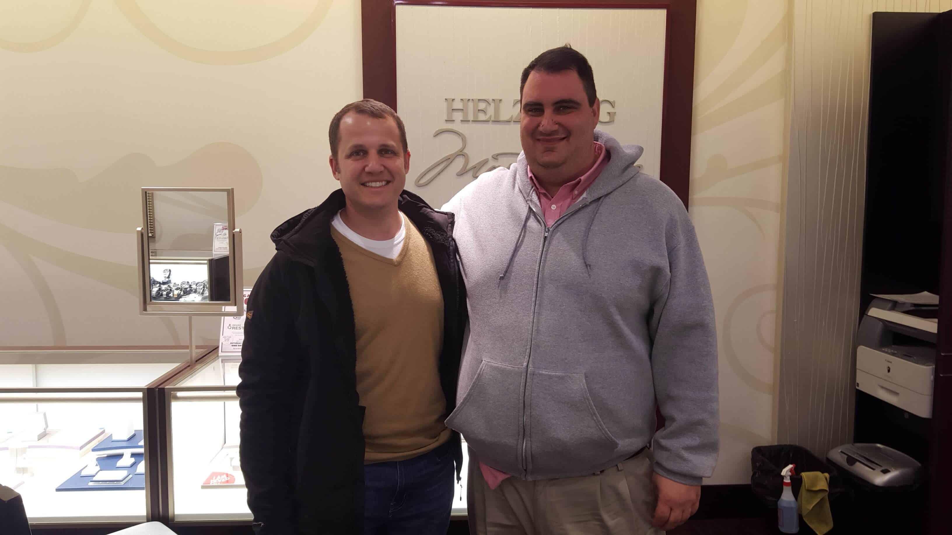 Ira & Mike Shopping at Helzberg