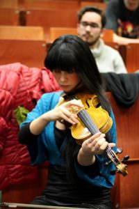 Jenny Playing the Violin