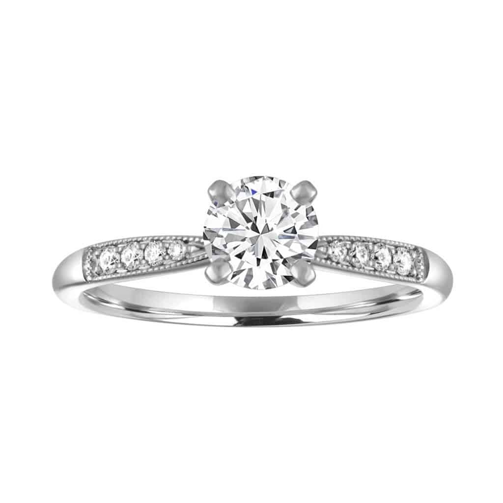 Blue Nile's 0.70ct I SI1 round diamond ring