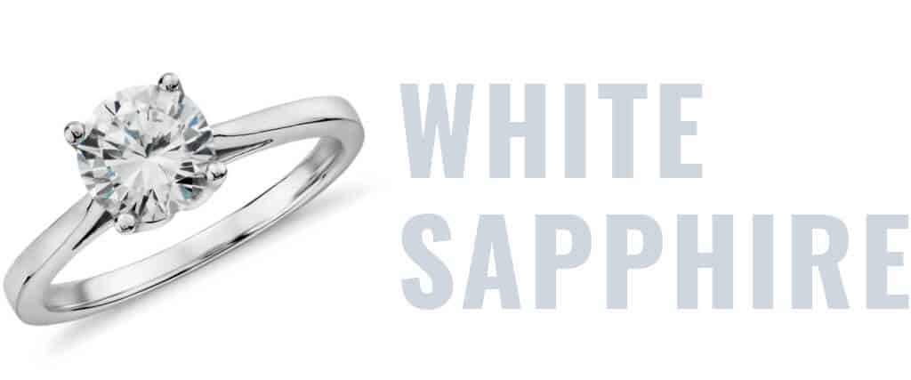 white-sapphire-engagement-ring-guide