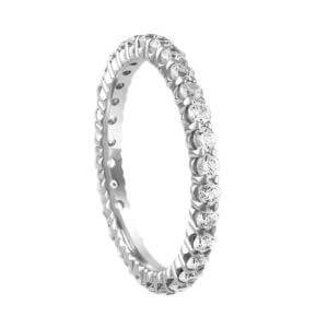Jewelry & Watches 1 Carat Blue Diamond Wedding Anniversary Full Eternity Band 14k White Gold