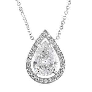 Pear Drop Diamond Pendant