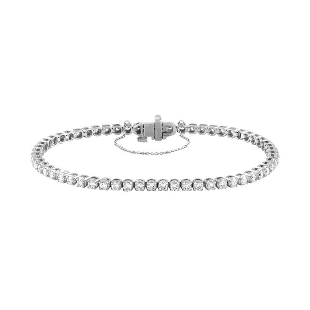 14 k White Gold Diamond Tennis Bracelet
