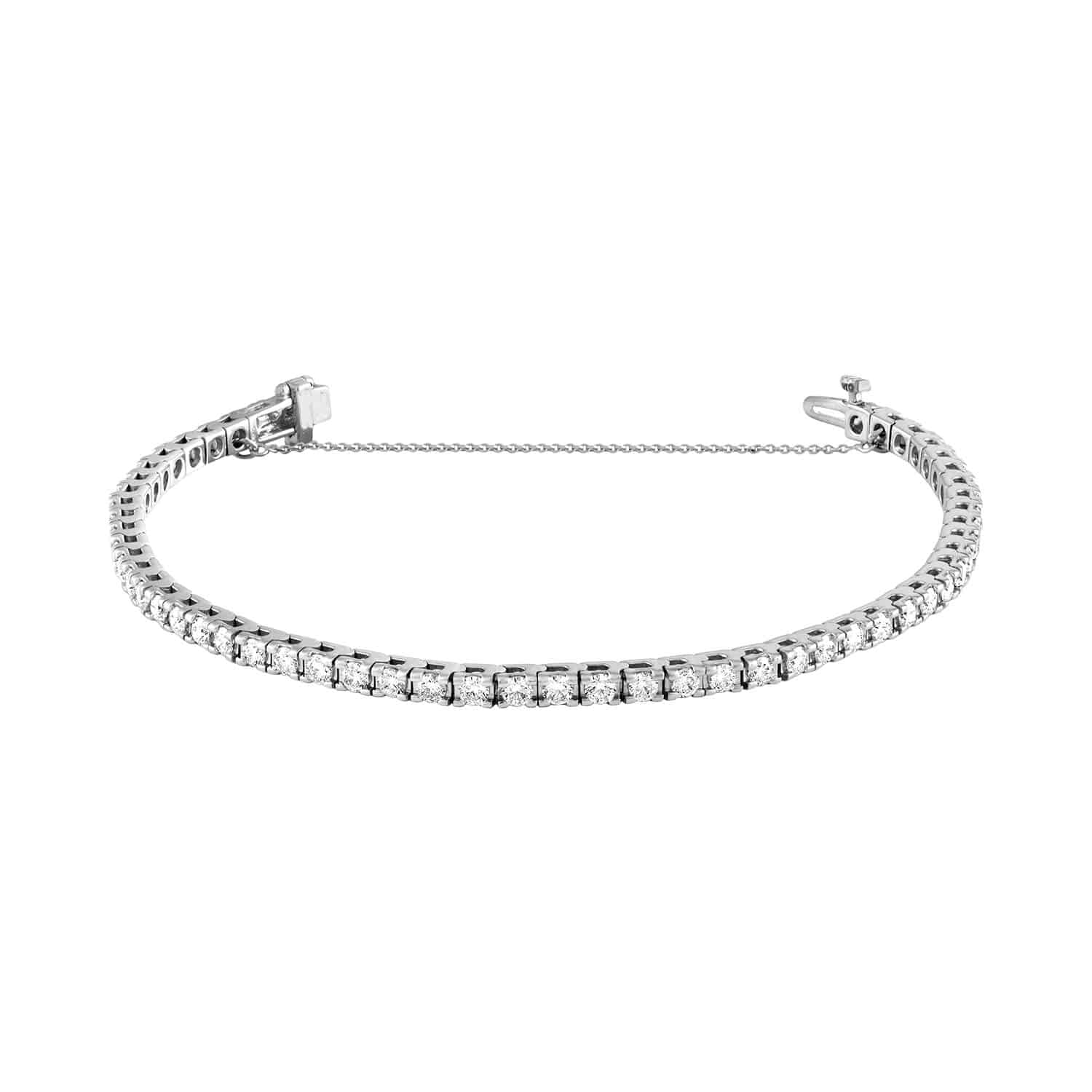 Jewelry & Watches Bridal & Wedding Party Jewelry 0.20 Tcw D Vs Round Cut 14k White Gold Gift New Good Diamond Bangle Bracelet