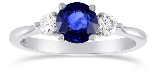 Blue Colored Gemstone Engagement Ring on a Budget