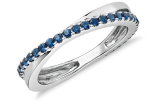Sapphire Infinity Eternity Ring- Gift for Mother's day