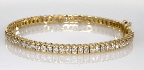 18k Yellow Gold Diamond Bracelet for Mom