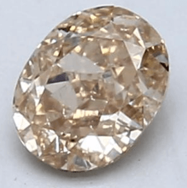 0.37-Carat Orange-brown Oval Diamond