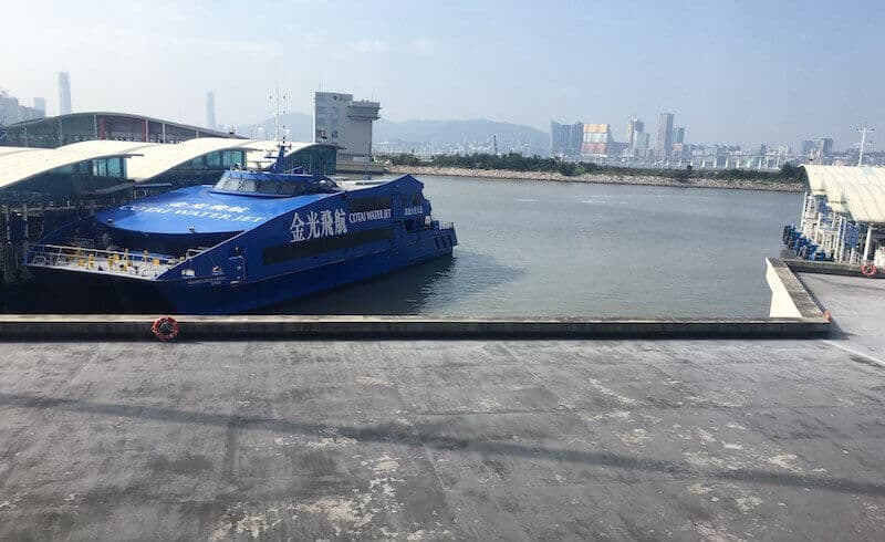 ferry in Macau
