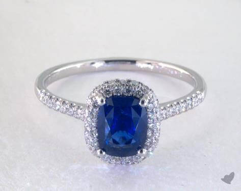 1.83 Carat Blue Sapphire Cushion Cut Engagement Ring from James Allen
