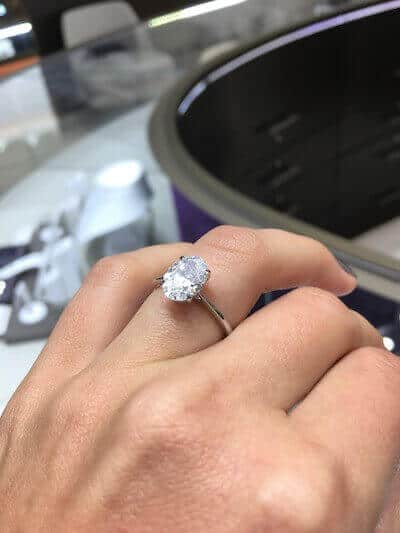 Oval Cut Diamond at Cerrone