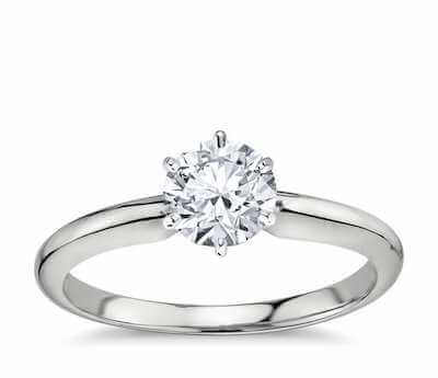 18K White Gold Solitaire Setting from Blue Nile