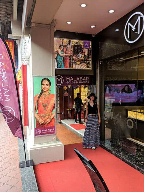 Outside Malabar Gold & Diamonds