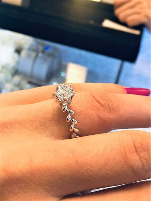 The second engagement ring we looked at in Goldheart