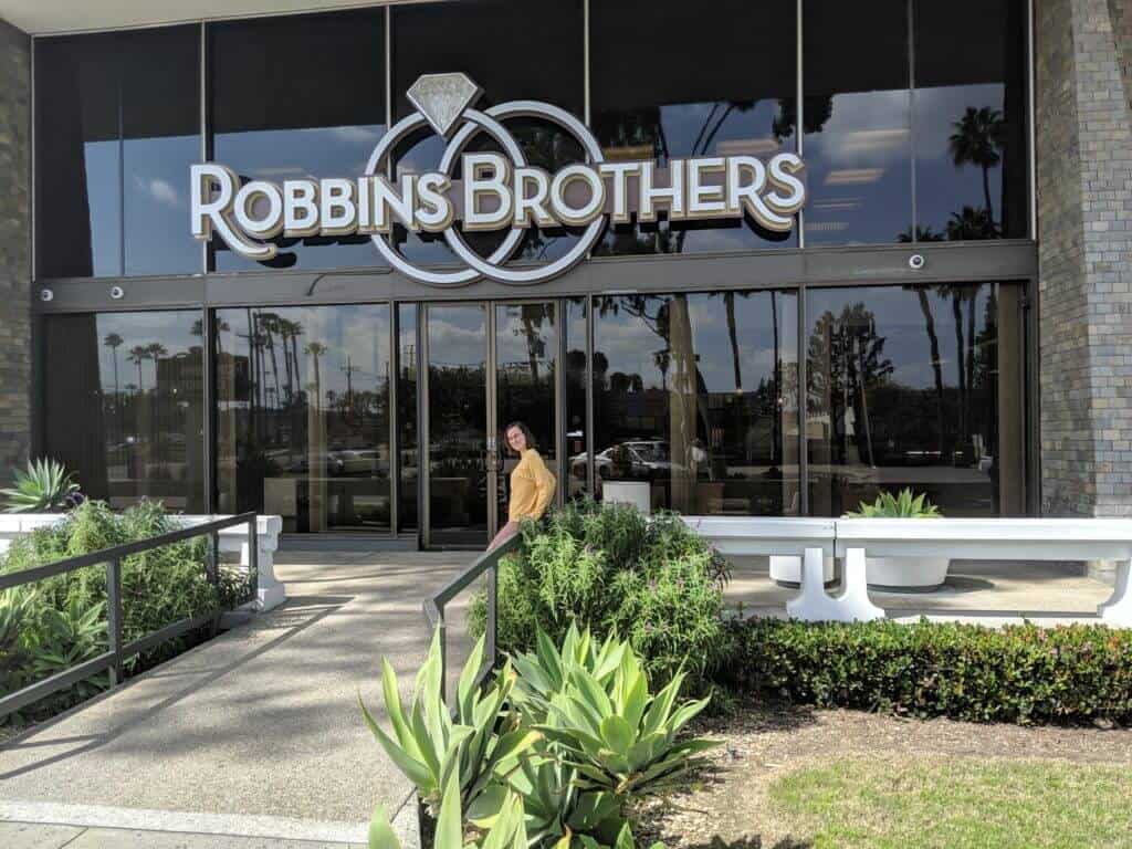 Annie Visiting Robbins Bros in Orange County