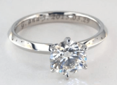 1ct Solitaire Engagement Ring