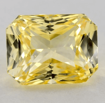 2.43ct Radiant Natural Yellow Sapphire