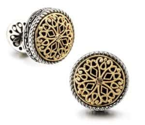 ornate cufflinks sold on Amazon