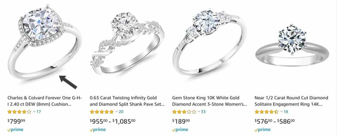 Amazon diamond engagement rings