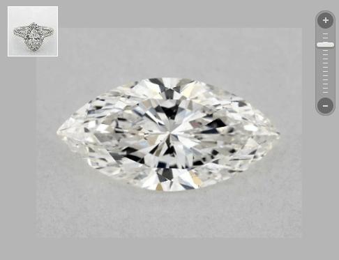 SI1 marquise diamond
