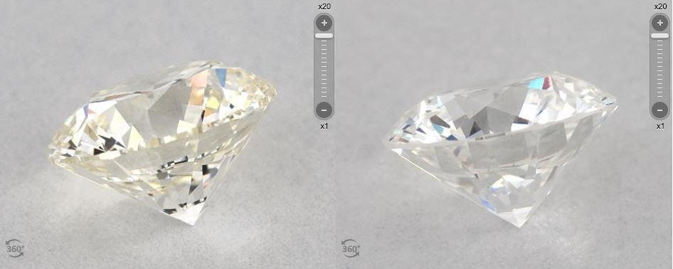 D-I color round cut diamonds comparison