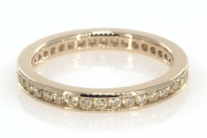 18K Yellow Gold Natural Fancy Yellow Diamond Eternity Ring