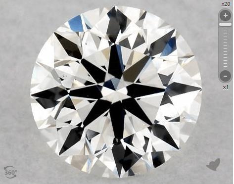 Eye-clean VS2 diamond from James Allen