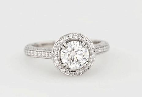 Pave diamond engagement ring for I1 article