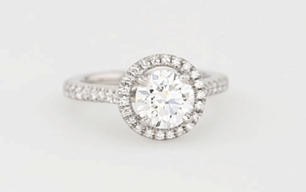 pave diamond ring for I2 clarity example