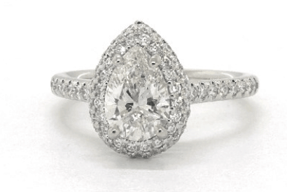 Pear Shaped SI2 Diamond Ring