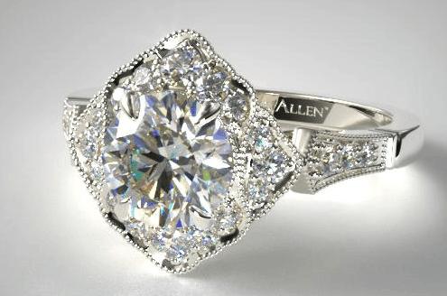 vintage ring round cut