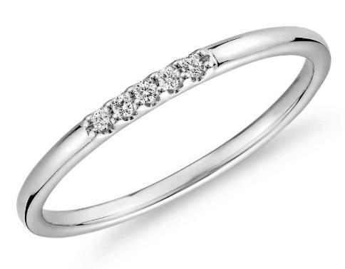 mini diamond pave ring blue nile