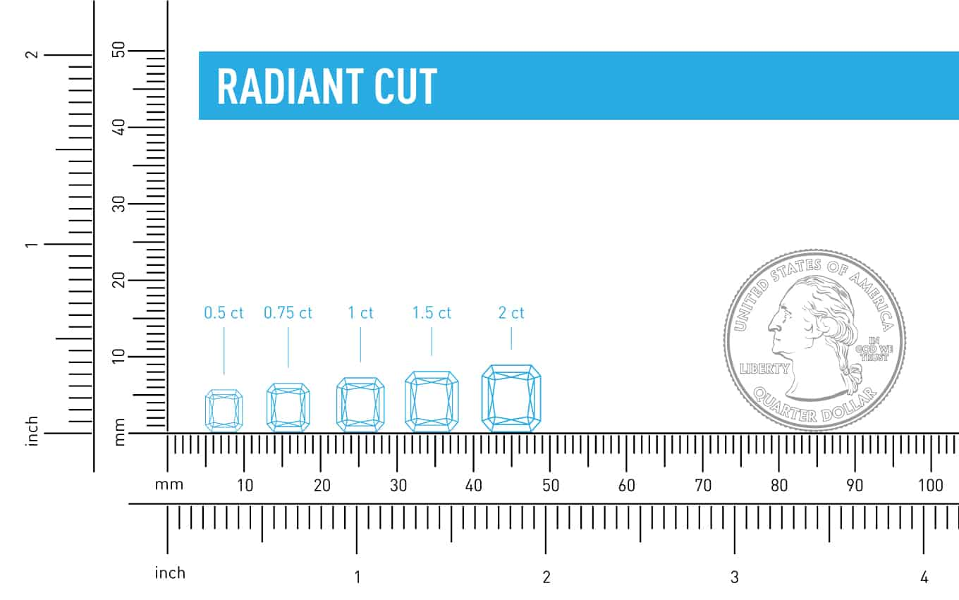 size vs carat weight radiant cut