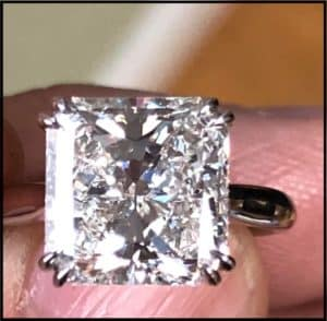 5.11ct Radiant Cut Diamond from Abe Mor