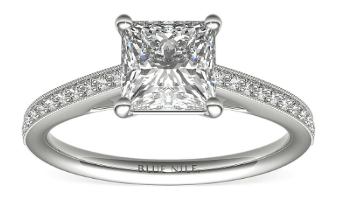 Cathedral Setting in White Gold from Blue Nile