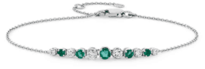 Emerald Diamond Bracelet from Blue Nile