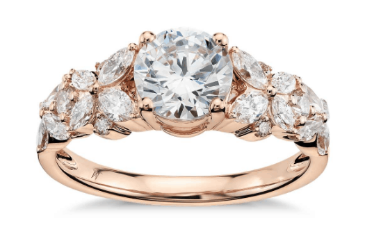 Petal Garland Diamond Engagement Ring from Blue Nile