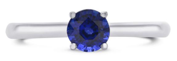 Leibish sapphire anniversary ring