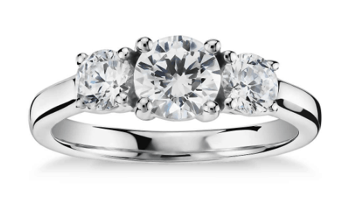 Three-Stone Diamond Ring from Blue Nile