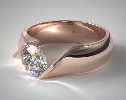Twist Tension Set Engagement Ring from James Allen