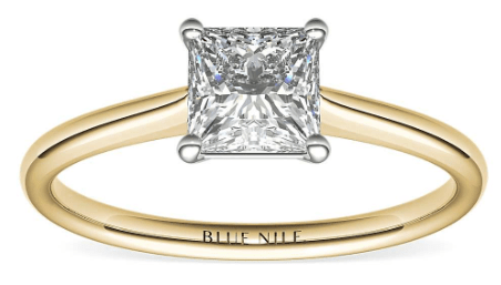 Yellow Gold Petite Solitaire Setting