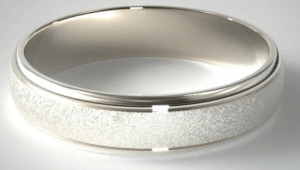 Wire Finish Wedding Band by James Allen