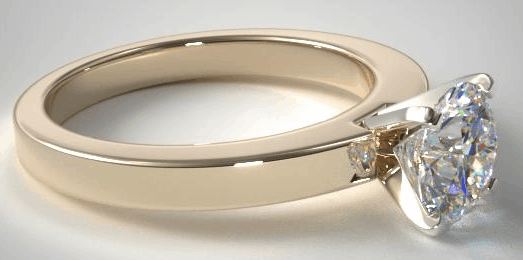 18K Yellow gold Flat Edged Solitaire Setting from James Allen