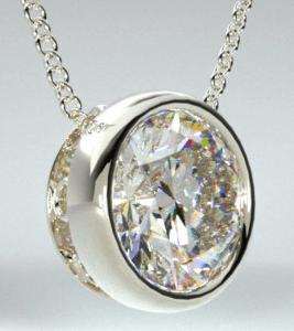 Bezel Diamond Pendant from James Allen