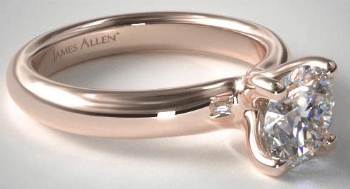 Rose Gold Contour Solitaire Setting