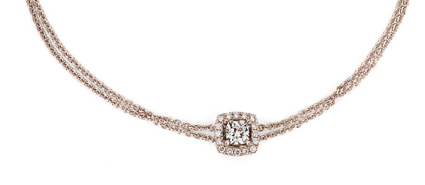 Cushion-Cut Diamond Halo Bracelet Blue Nile